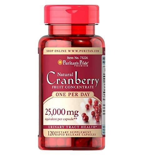 Cranberry Extrato 25,000mg Puritan Pride - 120 Cápsulas