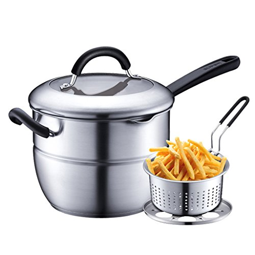 304 en Acier Inoxydable Multi-Fond épaissie Multi-usages Pot Pot Lait Pot Vapeur Multi-usages Pot 20 cm QIQIDEDIAN
