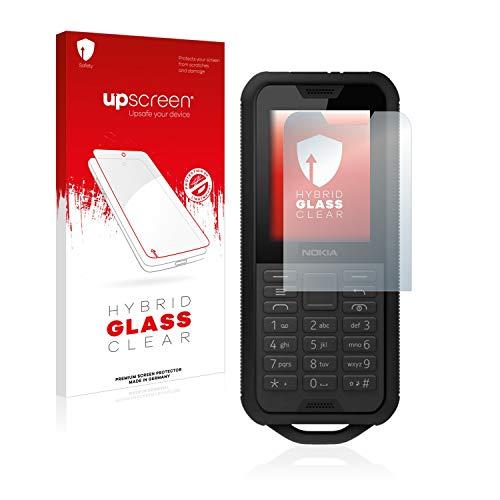 upscreen Hybrid Glass Panzerglas Schutzfolie kompatibel mit Nokia 800 Tough 9H Panzerglas-Folie