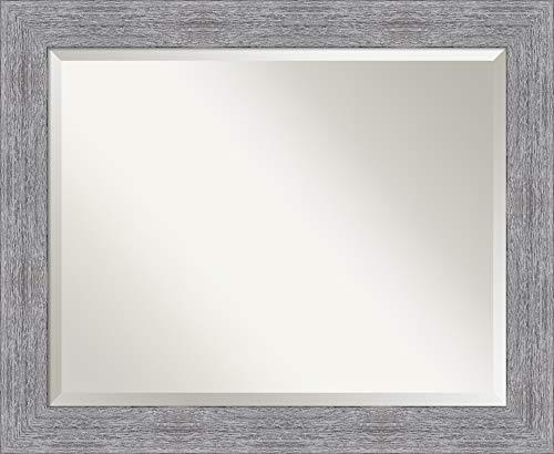 Amanti Art Framed Vanity Mirror   Bathroom Mirrors for Wall   Bark -