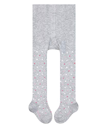 FALKE Unisex Baby Strumpfhose Little Dot, Baumwolle, 1 Paar, Grau (Stormy Grey 3822), 12-18 Monate (80-92cm)