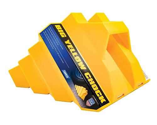 Camco Heavy Duty Big Yellow Chock – Helps Keep Your Trailer in Place So You Can Re-Hitch, Honeycomb Design for Extra…