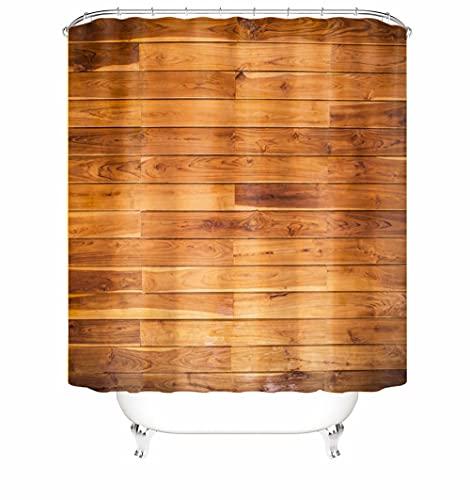 Tessuto in poliestere Tenda da Doccia 3D Impermeabile Abrasione resistente al calore 72 x 72 Inch(180 x 180 Cm) Tavola Shower Curtain Lavabile con 12 C-forma plastica Ganci per Tende Doccia A6423