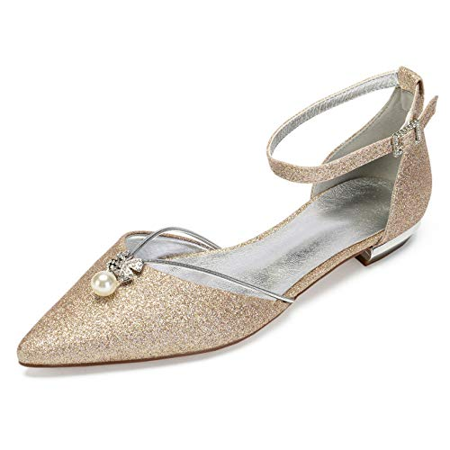 Women Flat Dress Shoes, Pointed Toe D