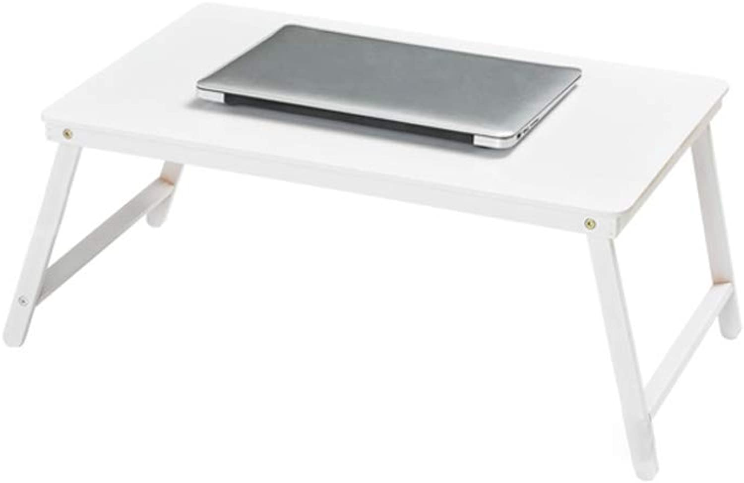 SLH White Folding Laptop Desk Bed with Small Table Dormitory Lazy Simple Desk Study Table