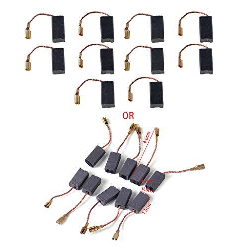BMBN 10 Piezas de cepillos de Carbono de Repuesto para Bosch GWS 580 GWS 850 C GWS 7-115 GWS 8-125 GWS 9-150CS GWS6-100 D11