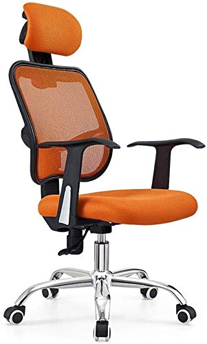 GSN Büro Ergonomischer E-Sport-Spiel-Computer Stuhl, Executive-Racing Mesh Fabric High Back Boss Home Beauty Massage Glücksspiel-Stuhl Sessel (Color : Orange)