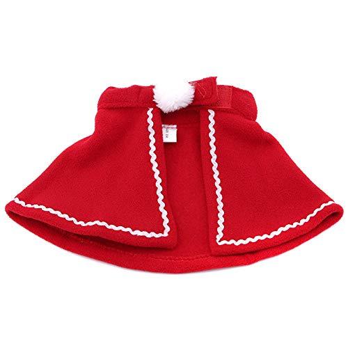 NKSS Hundekostüm Roter Minirock Weihnachtskap Für Haustierumhang-M_Mantel