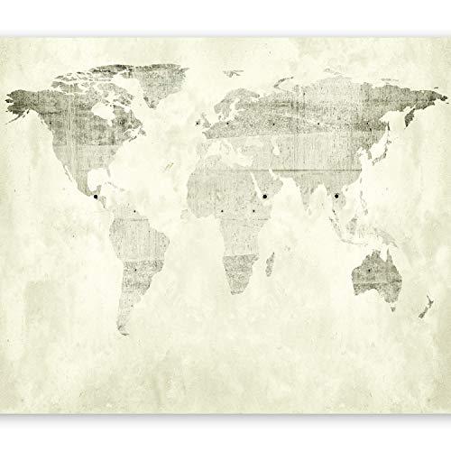 Papel pintado foto mural en seis tiras con diseño de mapamundi de B&D