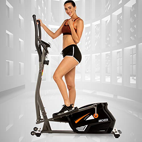 ANCHEER Magnetic Elliptical Machine, Quiet & Smooth Driven...