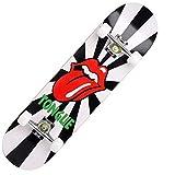 Lgan Skateboard Completo, Arce 95A PU Polea Monopatín Patineta,31x8in Principiante Monopatin Niños Niña, Calle Penny Board (Color : BB)