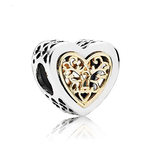 Perle cuore per bracciale Charm Fit Charms Pandora Diy