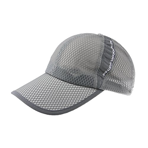 Unisex Womens Mens Quick Dry Mesh Baseball Cap Summer Cool Breathable Outdoor Sports Anti UV Sun Hat Adjustable Snapback Tennis Golf Hunting Fishing Running Cycling Sunhat Ball Cap Visor Headwear