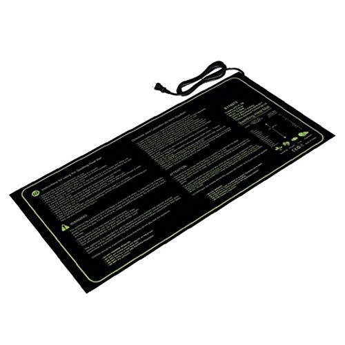 Odoukey Sämling Heizmatte hydroponische Samenpflanze Heizkissen PVC schwarz Wasserdicht für Indoor Outdoor Gartenarbeit (eu-Stecker)