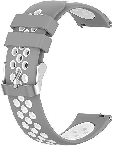 NeatCase kompatibel mit Garmin Vivoactive 4S (40MM) / Legacy Saga Rey (40MM) / Legacy Hero Captain Marvel (40MM) Armband, Silikon Uhrenarmband Sportarmband (18mm, Grau)