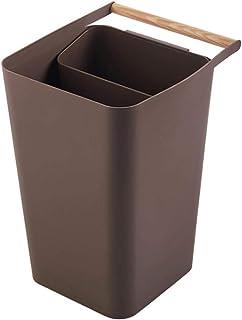 LAMEIDA Poubelle de Recyclage en Plastique Bacs à Ordures de Cuisine avec Compartiments et Poignée pour Tri Sélectif des D...
