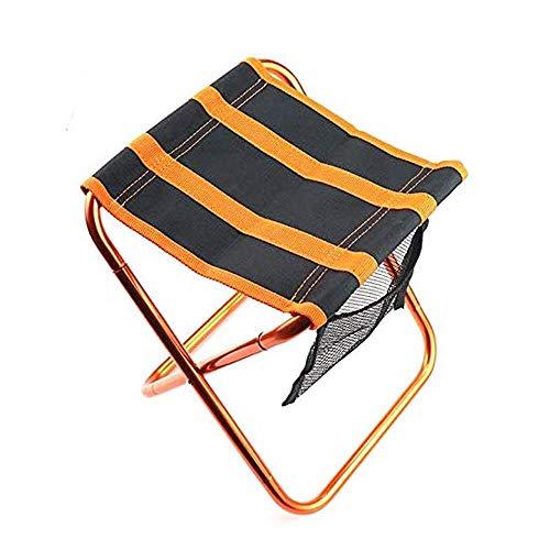 ROLL Klappstuhl for Camping, einziehbaren Teleskophocker for Angeln Grill im Freien Wandern, Camping beweglichen Bank-Sitz Hocker Aluminiumlegierung