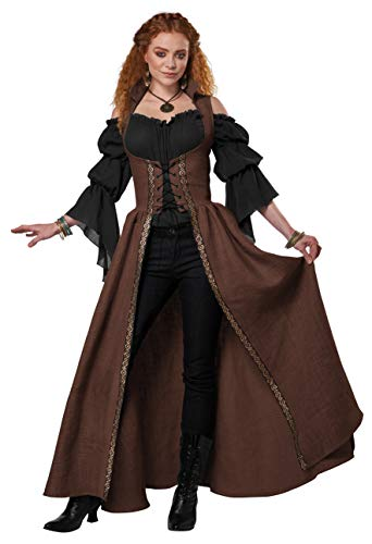 California Costumes Medieval Overdress Adult Costume (Brown), Large/X-Large