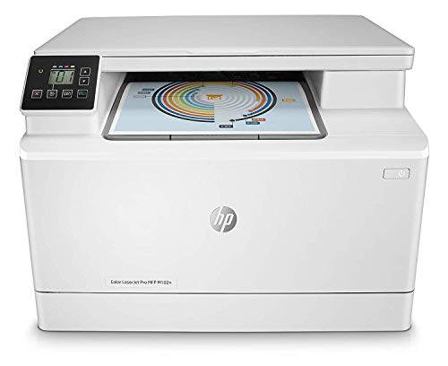 HP 7KW54A Color LaserJet Pro MFP M182n - Impresora láser multifunción, color, Ethernet, Blanco
