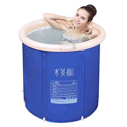CHICTI opblaasbare kuip, verdikking houden temperatuur plastic emmer bad bad bad spa bad met deksel lucht pomp-M