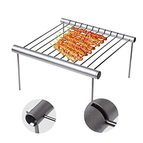 1 St Draagbare Opvouwbare Roestvrijstalen Barbecue Grillrek Outdoor Mini Non-stick Mat Bakplaat voor Camping Bakken Koken - Hittebestendig Voor knutselen DIY