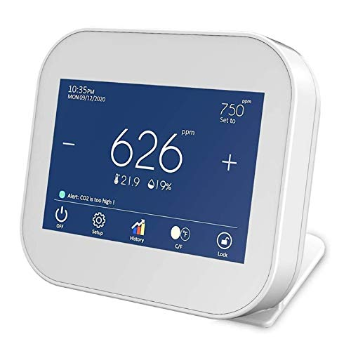 LILIS Carbon Monoxide Meter Indoor CO2 Meter, Temperatur- und Relative Luftfeuchtigkeit Kohlendioxid-Detektor, Luftqualitätsmonitor, NDIR-Kanalsensor, Datenlogger, 0~9999PM-Bereich