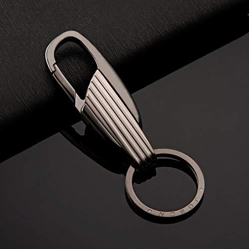 LBPLWY Auto schlüsselbund Schlüsselanhänger,Metall Auto Keychain Mode Motorrad Schlüsselanhänger Anhänger für Lada Vesta Subaru Honda Civic Mazda 3 Volvo Suzuki Sx4 Audi Schlüsselanhänger-Black