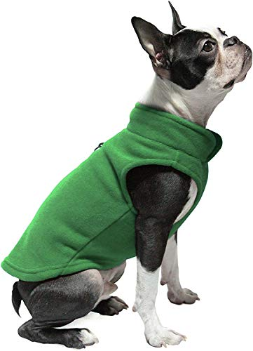 Gooby Every Day Fleece Cold Weather Dog Vest for Small Dogs, Green,...