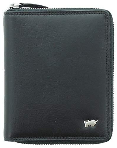 BRAUN BÜFFEL Geldbörse Golf 2.0 - mit Reißverschluss - aus echtem Leder (schwarz, 8 Fächer)