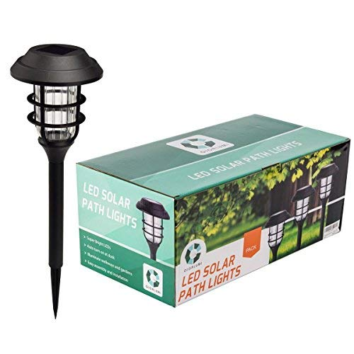 GIGALUMI Solar Pathway Lights Outdoor, Waterproof Outdoor Solar Lights for Garden, Landscape, Path, Yard, Patio, Driveway, Walkway- (8 Pack)