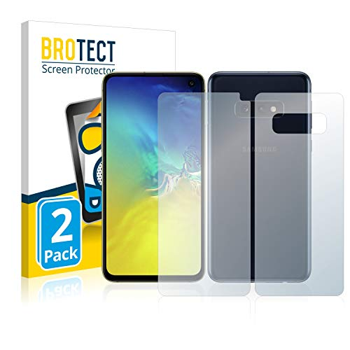 brotect Pellicola Protettiva Opaca Compatibile con Samsung Galaxy S10e (Anteriore + Posteriore) Pellicola Protettiva Anti-Riflesso (2 Pezzi)