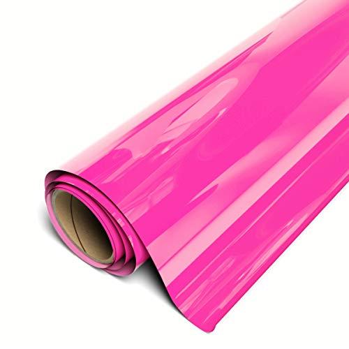 "Siser EasyWeed HTV 11.8"" x 3ft Roll - Iron on Heat Transfer Vinyl (Fluorescent Pink)"