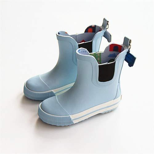 YCWY Children es Waterproof No-Slut-Rain Boot, Classic Cartoon Water Shoes, Lightweight, Easy On für Little Kids & Toddler, Boys & Girls Patterns,15CM
