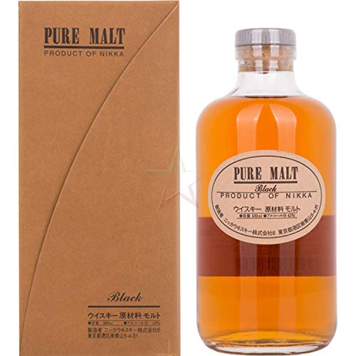 Nikka Pure Malt Black Whisky (1 x 0.5 l)