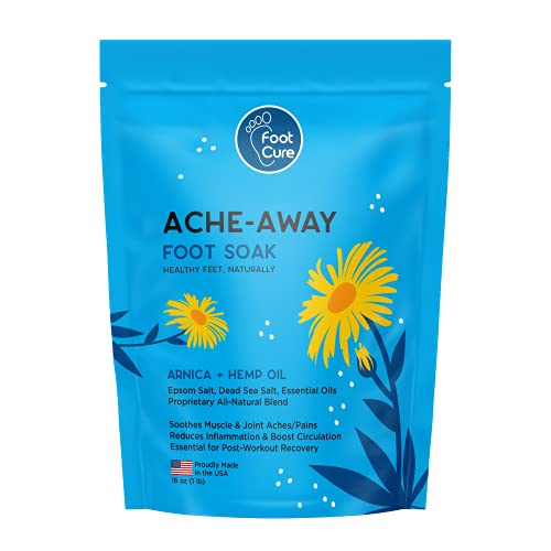 Foot Cure Foot Soak with Epsom Salt - for Muscle Relief and Tired Feet, Made in USA, Soothe Aches Pain and Joint Soreness, Soften Calluses, Helps Toenail and Fingernail, 1 lb / 16 oz