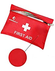 Small Travel First Aid Kit - 12 Piece Clean, Treat and Protect Most Injuries,Ready for Emergency at Home, Outdoors, Car, Camping, Workplace, Hiking