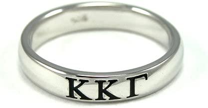 The Collegiate Standard Kappa Kappa Gamma Sorority Sterling Silver Skinny Band Ring