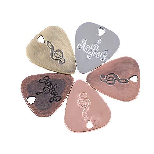 IKAAR 5pcs Metal Guitarra Pick Zinc Aleación Pick Púa para Guitarra Eléctrica...