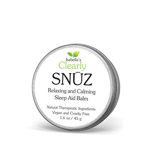 Isabella's Clearly SNŪZ Sleep Aid Balm, 100% Effective Natural Sleeping Remedy for Insomnia Relief, Non Habit Forming, No Supplement or Pill. Vegan. USA. 45 g