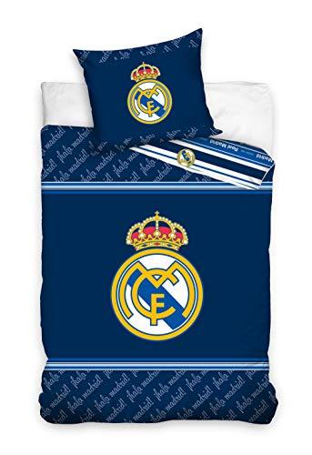 Real Madrid Juego de Funda Nórdica de 2 Piezas Cama90 (160x240 + 45x110)