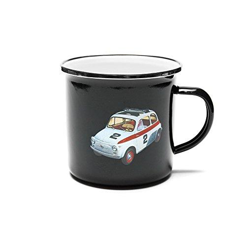 Fiat 500fice21Taza esmaltada, Esmalte, Negro