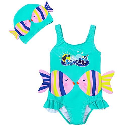 Meisjes Een Stuk Zwemkleding, Kinderen Badpak Peuter Badpak Zwemmen Kostuum Leeftijden 1 tot 6 Jaar 4-5 Years C