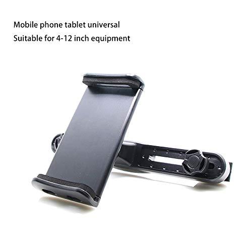 Heylas tablethouder voor in de auto, 4-12 inch verstelbare autohoofdsteunen, tablethouder, 360 graden rotatie, universeel voor iPad Samsung Galaxy Tab, DVD-speler