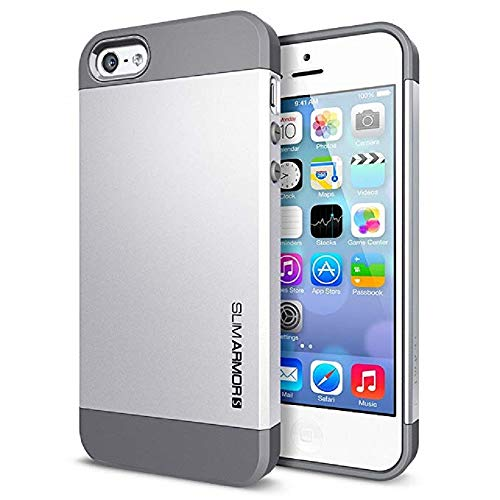 SGP 10090 funda cover case slim Armor satin silver para iPhone 5 5s