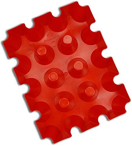 sl-Eisblock Bierkühler Getränkekühler 0,5 Liter ROT Flaschen Bierkastenkühler Made in Germany (rot)