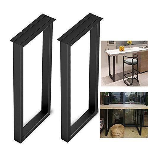 Patas de Mesa Negras H: 100 cm, Patas de Mesa de Comedor de Cocina Moderna, Ajustable en Forma de U Pedestales de Mesa de Consola, Metal Oficina Patas de Escritorio, 2 pcs