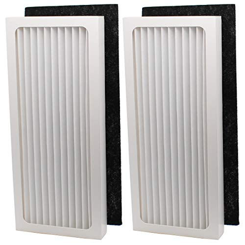 ApplianPar Pack of 2 Air Filter Replacement for Hamilton Beach True Hepa Air Purifier 04386A, 04383 04385 04384 990051000