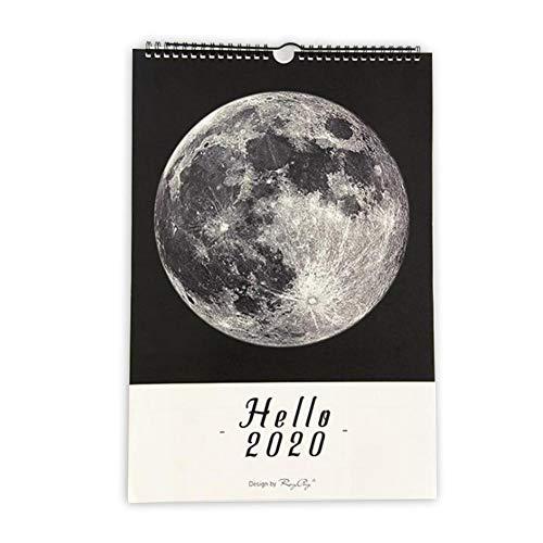 Calendario de pared de terynbat 2020 mensual, grande, calendario académico colgante de...