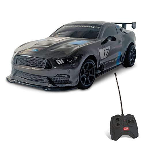 Mondo Motor Global Mustang GT4 - Modelo a Escala 1:28 - hasta 10 km/h de Velocidad - Coche de Juguete para niños - 63544