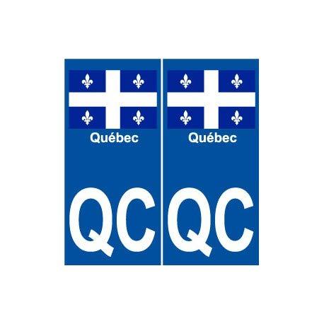 Québec QC Aufkleber, Motiv Weltstadt